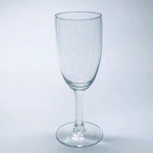 Sektglas mit Füllstrich