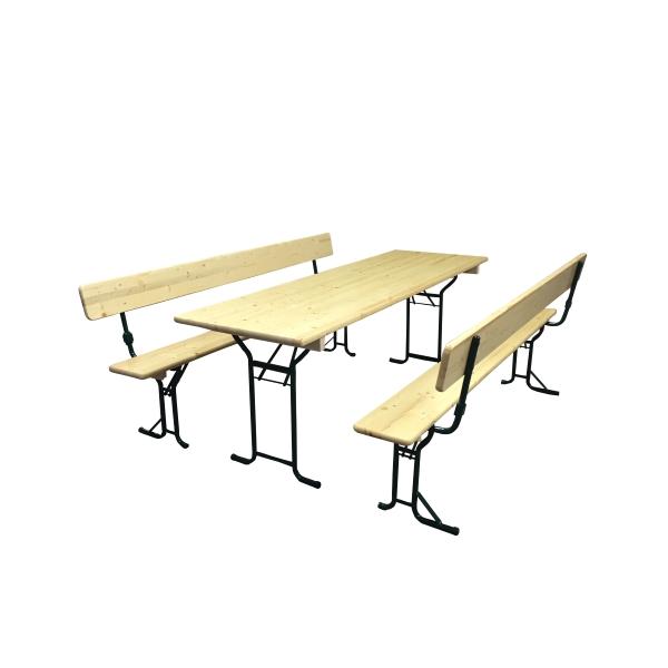Festzeltgarnitur mit Lehne 70 cm Tisch