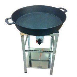Hockerkocher mit Pfanne